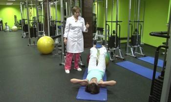 Лечебная гимнастика с врачем
