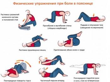упражнение для поясницы